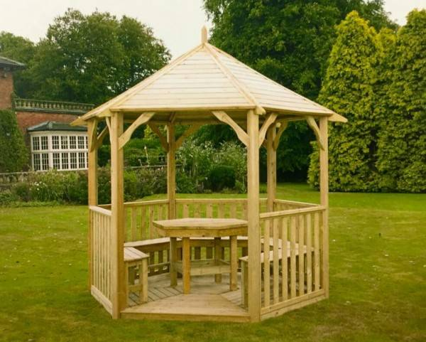 Gazebo with seating